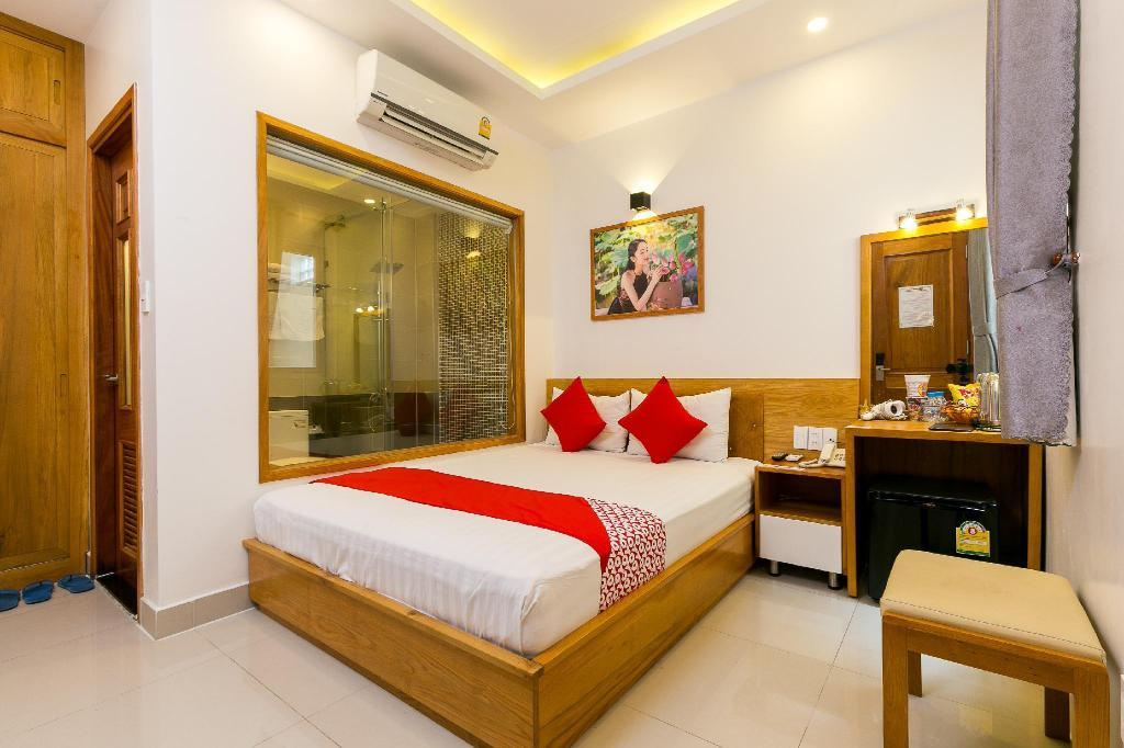 Standard Double Room - Room plan OYO 231 Thien Cung Hotel