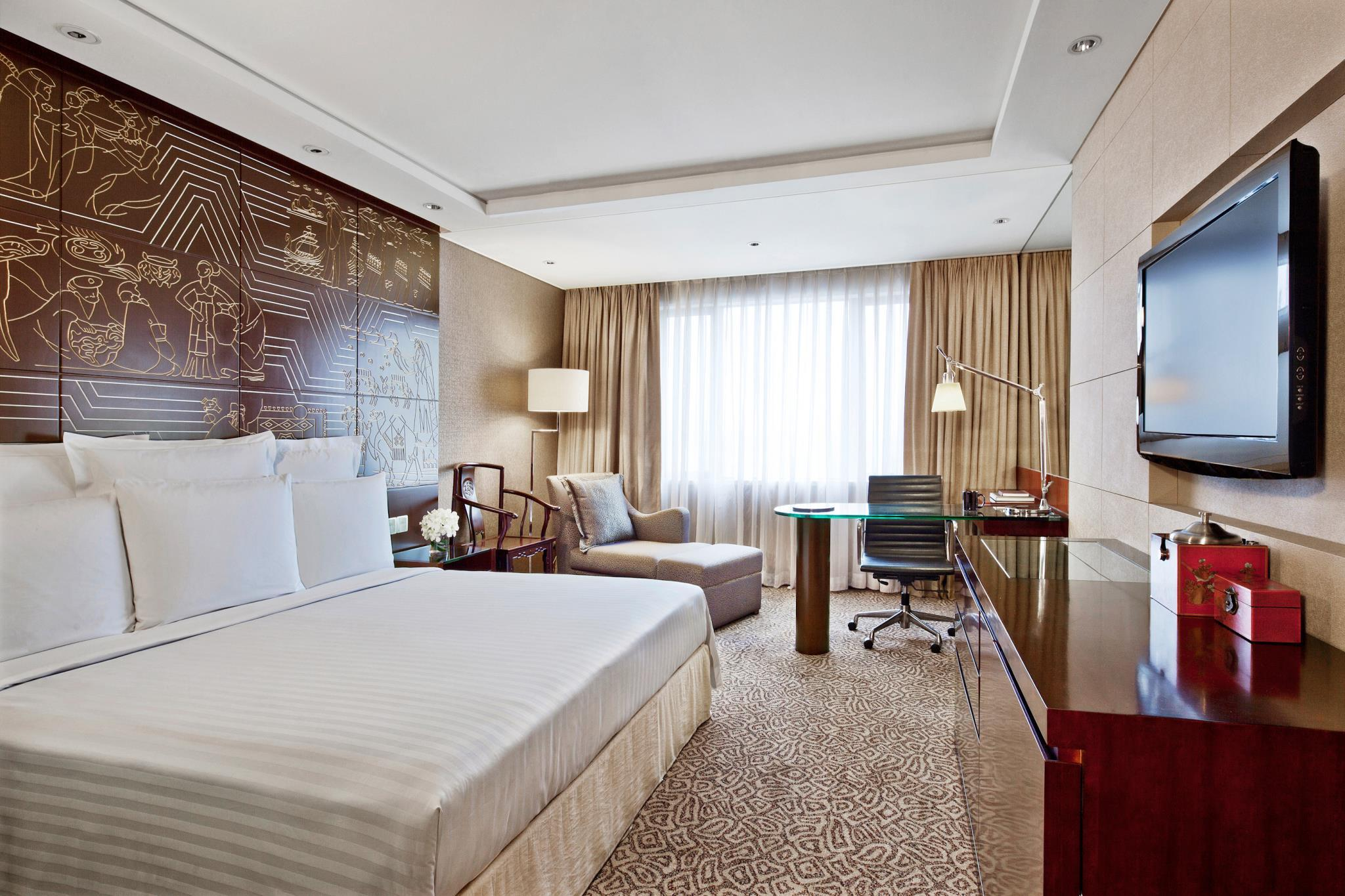 Kamar Deluxe dengan 1 Kasur King atau 2 Kasur Double (Deluxe Room, Guest room, 1 King or 2 Double)