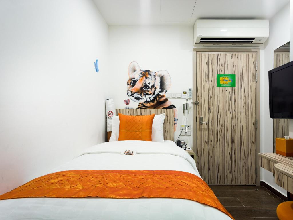 Superior Single Room without Window - Bed Hotel Clover The Arts