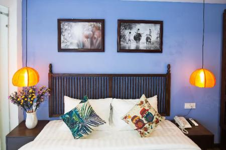 Superior Double Room - Bed Son Trang Hotel Hoi An