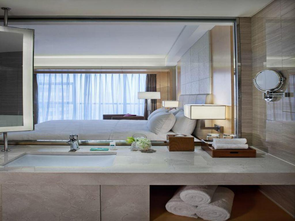 Guest Room, Guest room, 1 King, City view - Room plan Courtyard Hangzhou Qianjiang