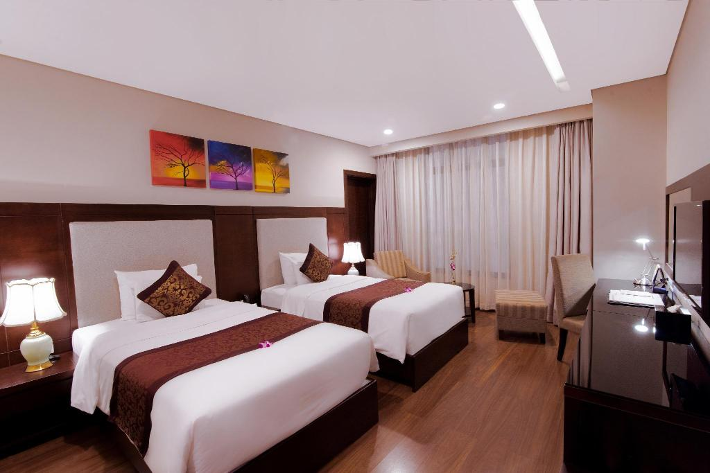 Superior Twin Room - Room plan Minh Toan Galaxy Hotel Da Nang