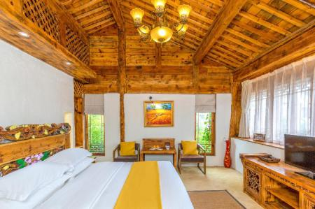 Boutique King Bed - Room plan Lijiang E-Outfitting Boutique Hotel