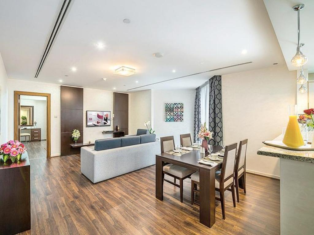 Standard One Bedroom Apartment - Lounge City Premiere Marina Hotel Apartments
