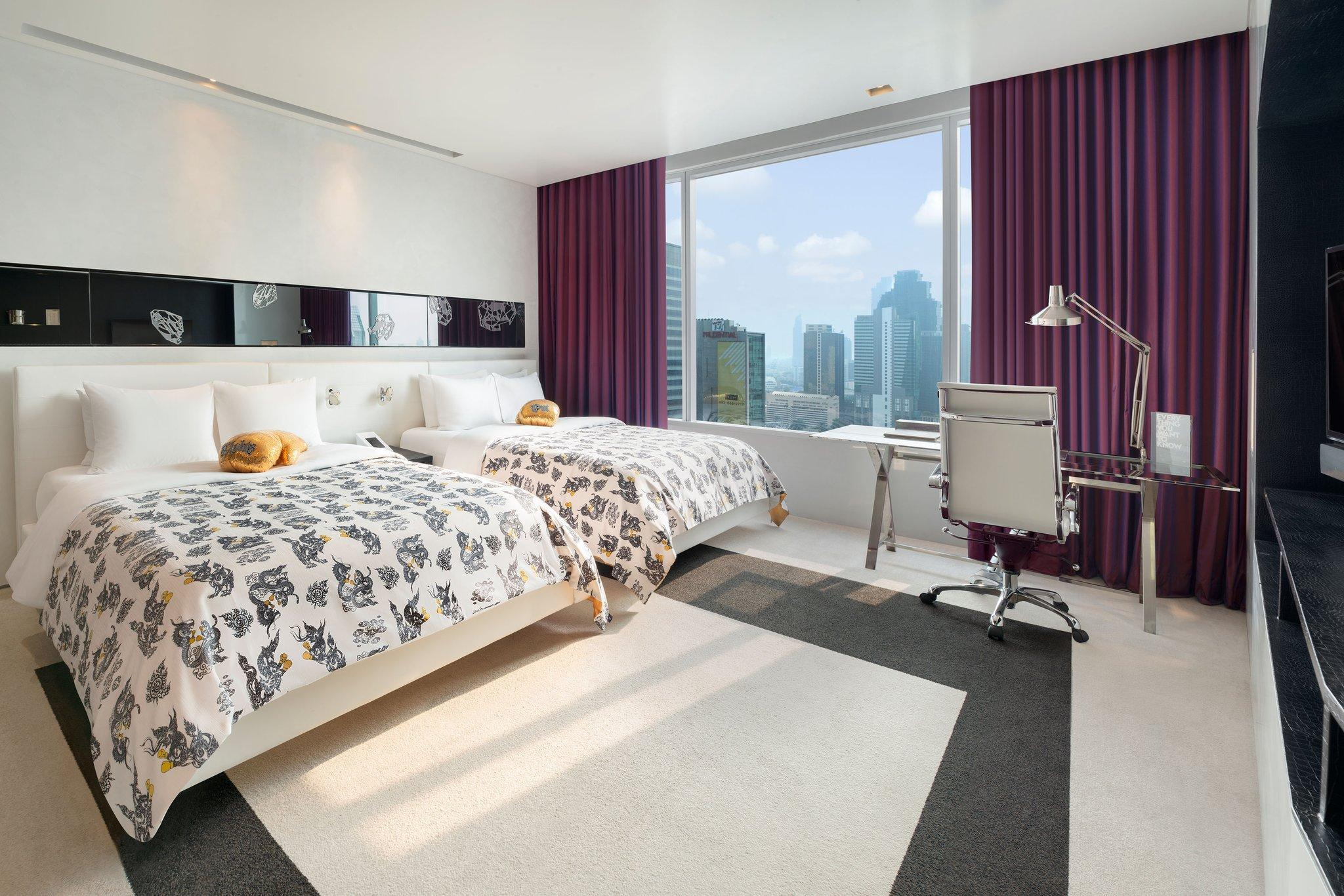 Wonderful, Guest room, 2 Queen, City view