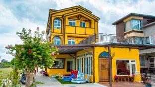 colorful wooden horse homestay
