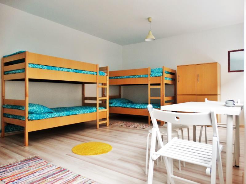 Postelja v 6-posteljni skupni spalnici s skupno kopalnico (Bed in 6-Bed Dormitory Room with Shared Bathroom)