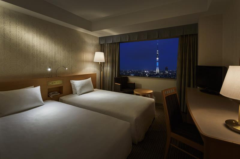 東京晴空塔景休閒房(兩床) - 禁煙  (Casual Tokyo Skytree View Twin Room - Non-Smoking )