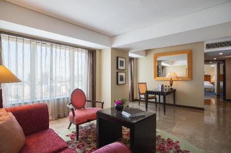 Club lounge access, Studio, 1 King, City view, High floor - Guestroom Renaissance Tianjin TEDA Convention Centre Hotel