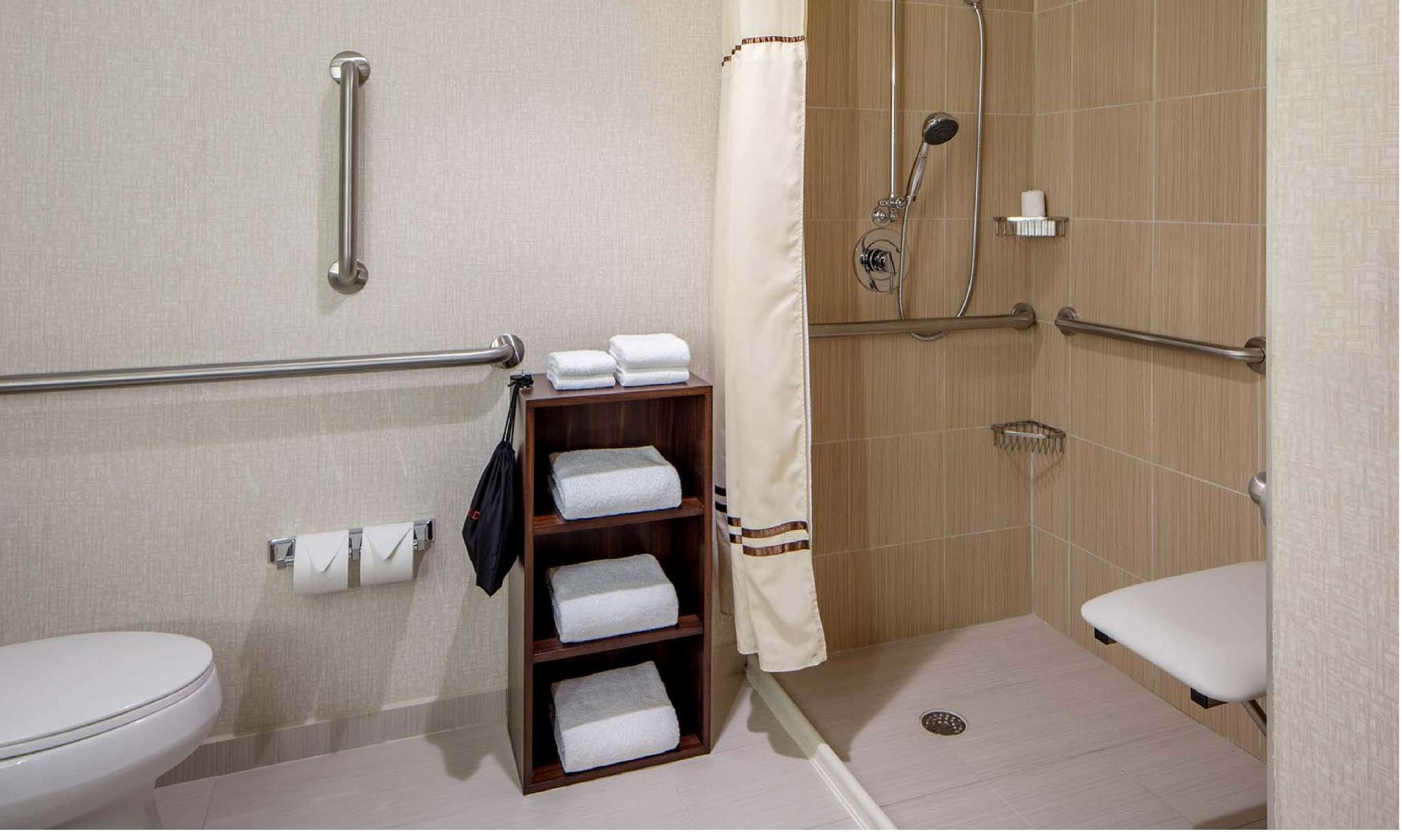 2 Double City View Mobility Hearing Accessible Roll in Shower