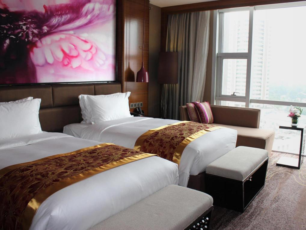 Superior twinkamer (2 aparte bedden) - Bed Sofitel Nanjing Galaxy
