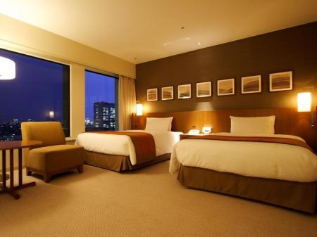 Plaza Deluxe Room with Twin Bed - Non-Smoking - Room plan Keio Plaza Hotel Tokyo