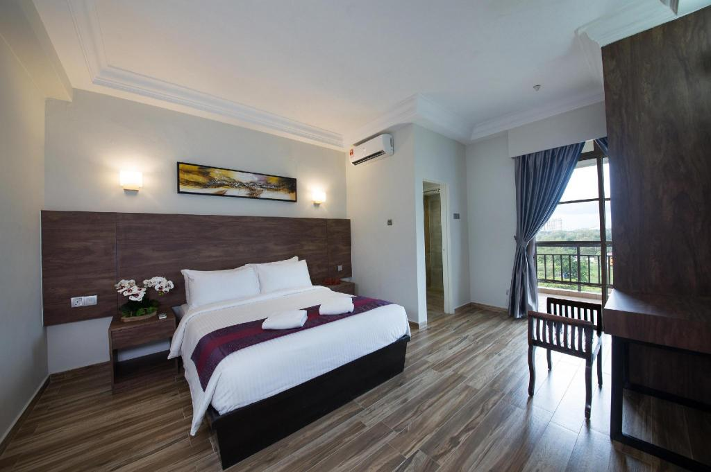 One Bedroom Deluxe Apartment - Bedroom Ancasa Residences - Port Dickson by Ancasa Hotels & Resorts