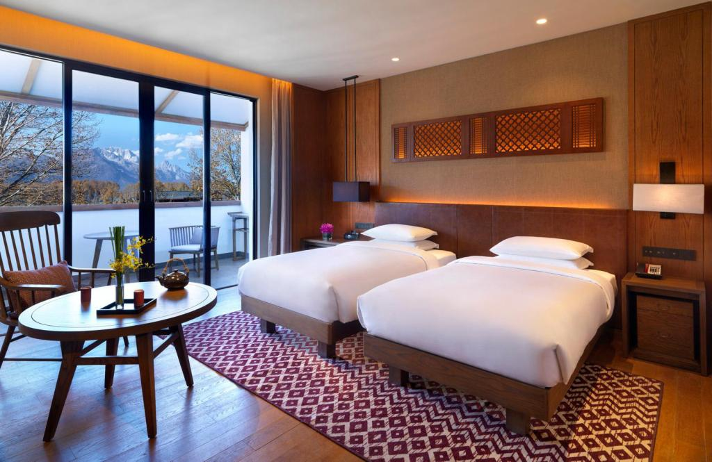 Deluxe Twin Bed Room - Giường Jinmao Hotel Lijiang In The Unbound Collection by Hyatt