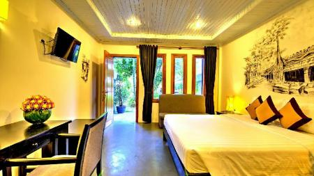Deluxe Double (Free 2 ways airport transfer) - Bed La Residence Blanc D' Angkor