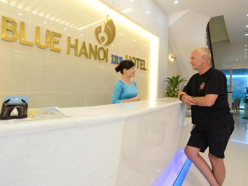 Hotellet indefra Blue Hanoi Inn Hotel