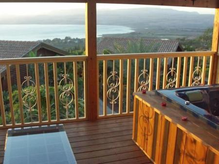 Rõdu/terrass Sea of Galilee Panoramic View Chalets