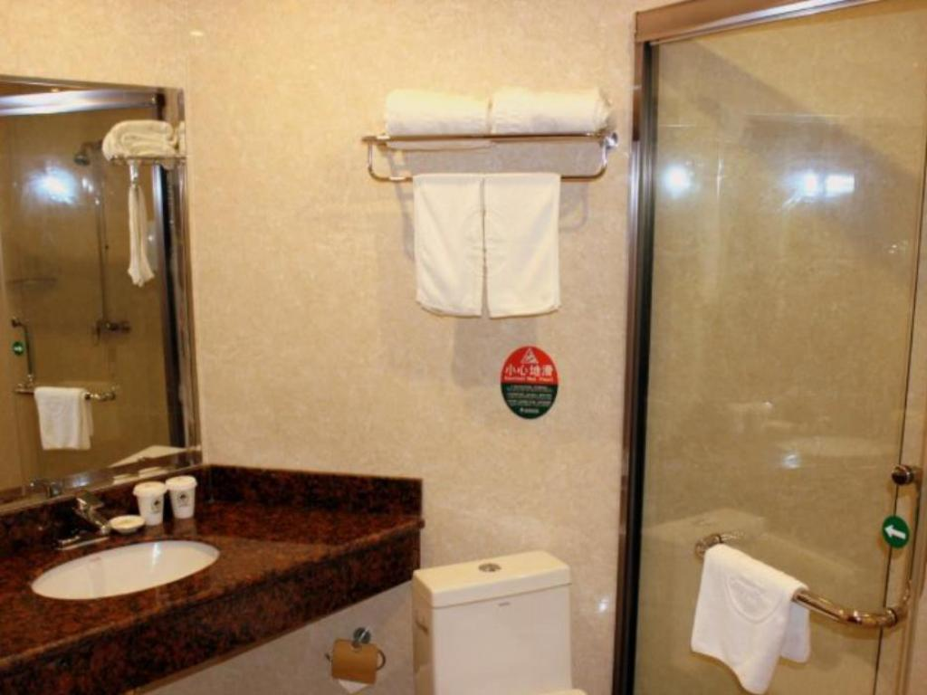 Bathroom GreenTree Inn Anhui Province Anqing Guangcai Big Market Bus Terminal Business Hotel