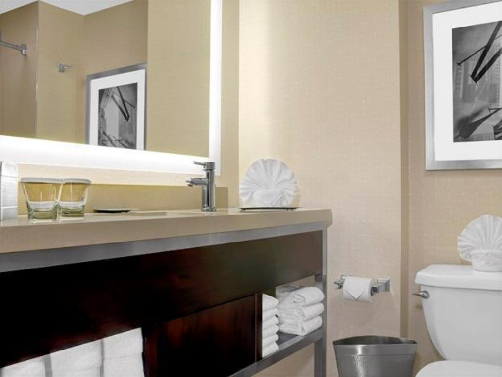 1 King Bed 1 Bedroom Deluxe Suite - Vannas istaba Hilton Times Square Hotel