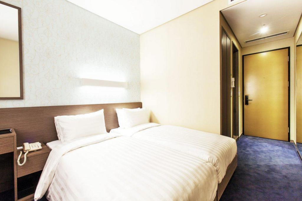 Business Double Room without Window - Bed Migliore Hotel Seoul Myeongdong