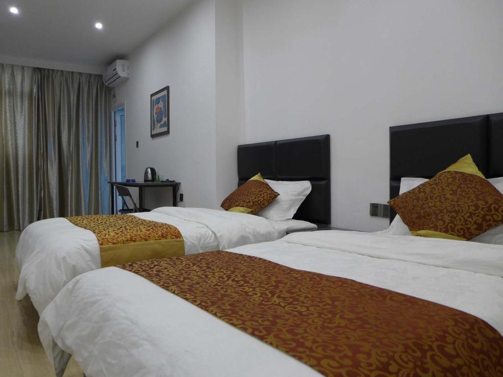 Business Twin Bed Xiamen Aishangni Seaview Inn