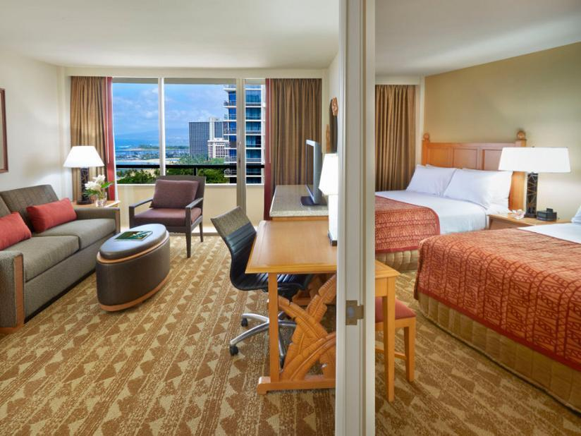 2 Queen Beds 1 Bedroom Ocean view Suite Nonsmoking