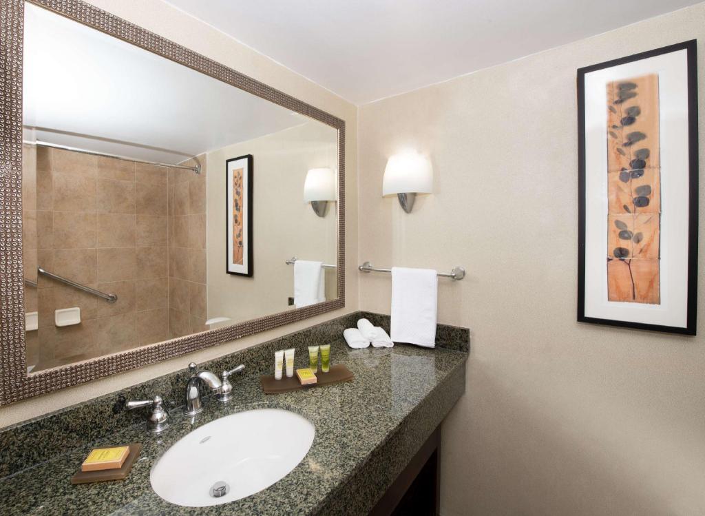 1 King Bed Corner Room Bathroom