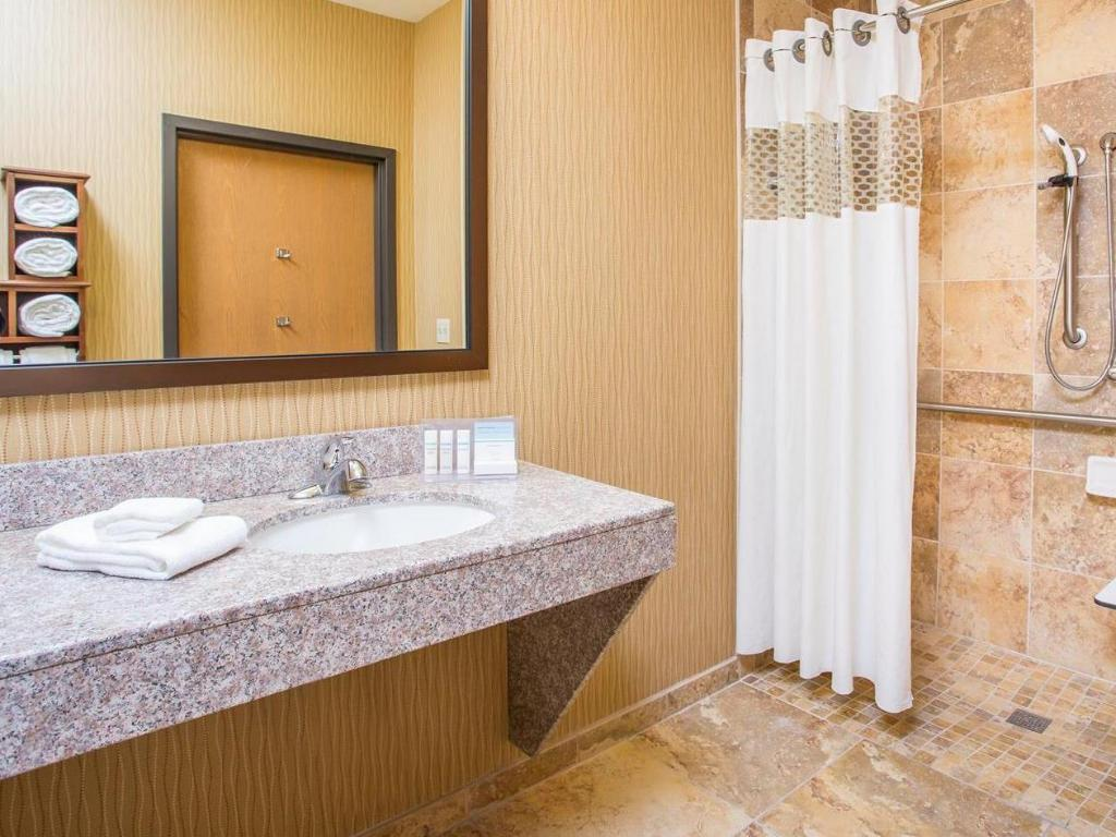 Bathroom Hampton Inn Wichita-East Hotel