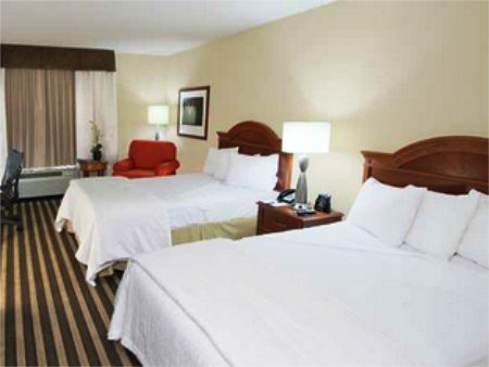 2 Double Bed Junior Suite Sofabed Hilton Garden Inn Fort Lauderdale Hollywood Airport