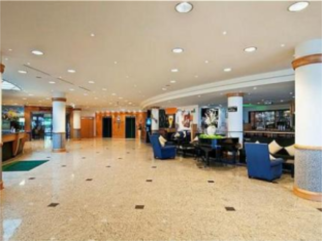 Hotellet indefra Hilton Garden Inn Vienna South