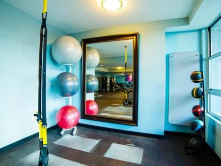 Fitness center Downtown Helena Apartment