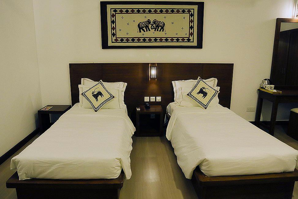豪华房(双床)-带阳台 (Deluxe Twin Room with Balcony)