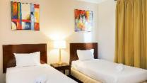 Simple Ancol Marina 1BR Twin Bed By Travelio