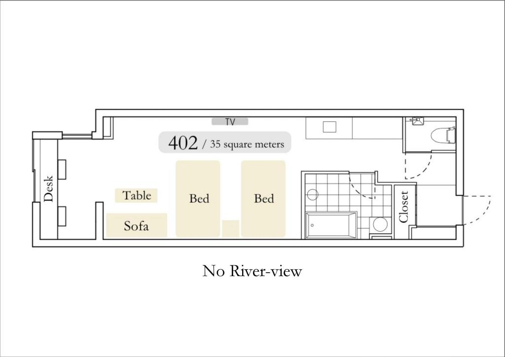 North Wing 4th Floor Street View Twin Room Aoi Hotel Kyoto - Luxury Apartment-