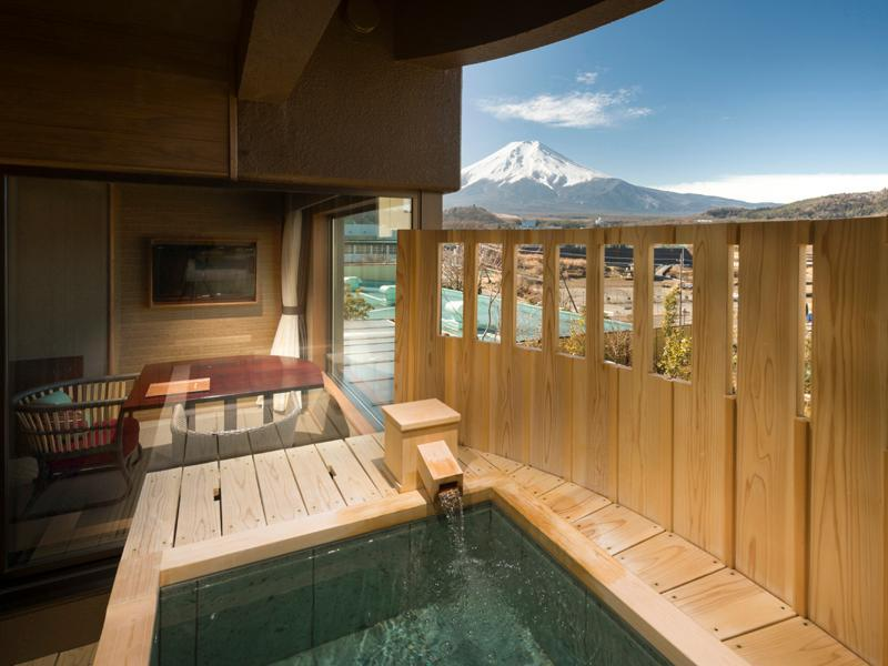 明见富士山景观房B-带独立露天浴池|禁烟 (Asumi B Mount Fuji View with Private Open-Air Bath - Non-Smoking)