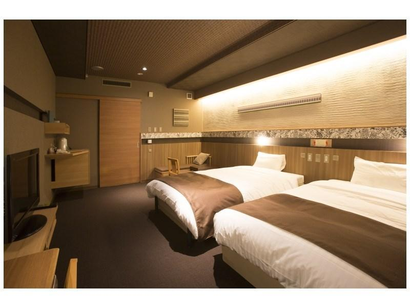 新馆 新改装日式摩登双人双床房 (Modern Japanese-style Twin Room (New Building) *Refurbished room)