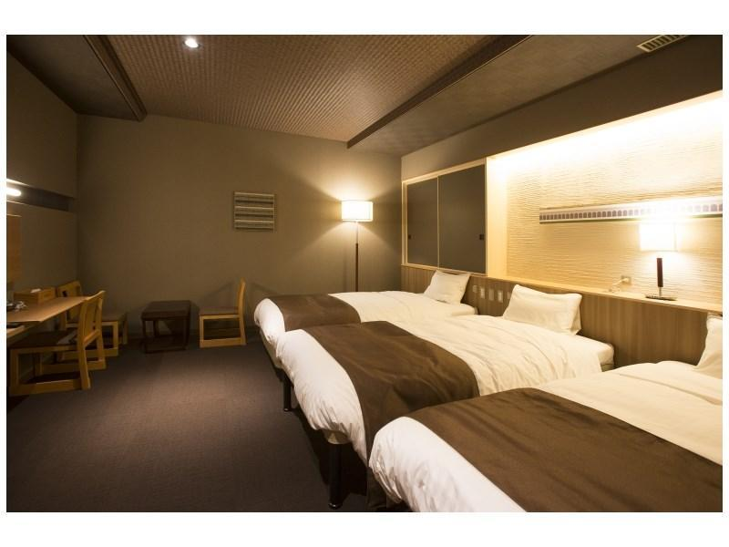 Modern Japanese-style Triple Room (New Building) *Refurbished room