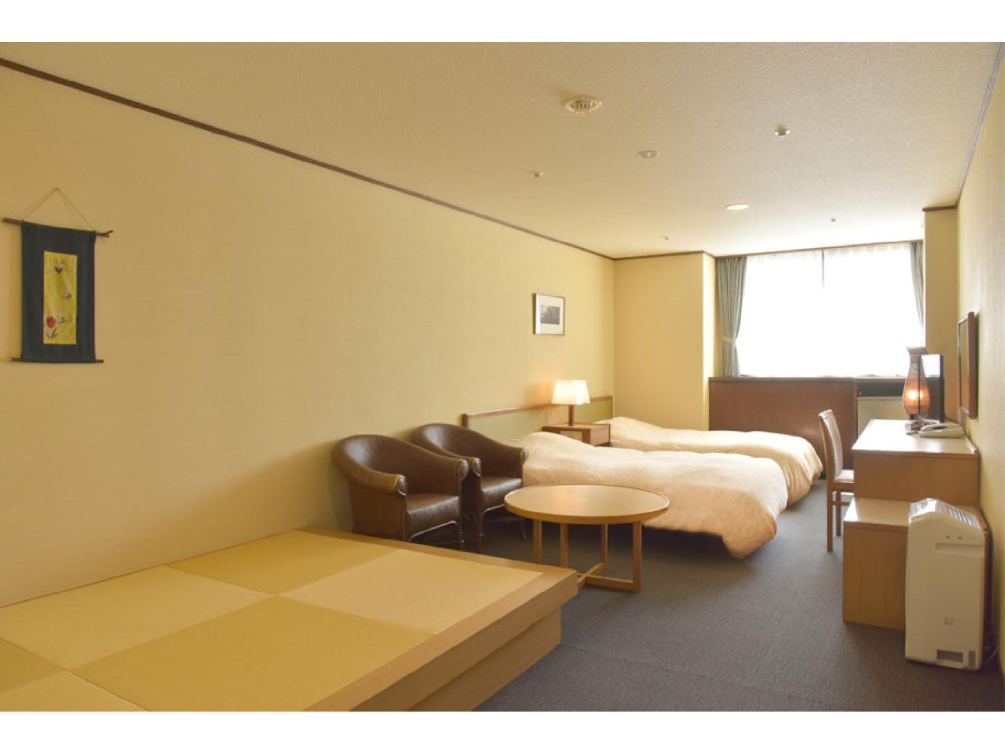 다다미 침대 객실(트윈베드) (Japanese Western Style Room with Twin Bed)