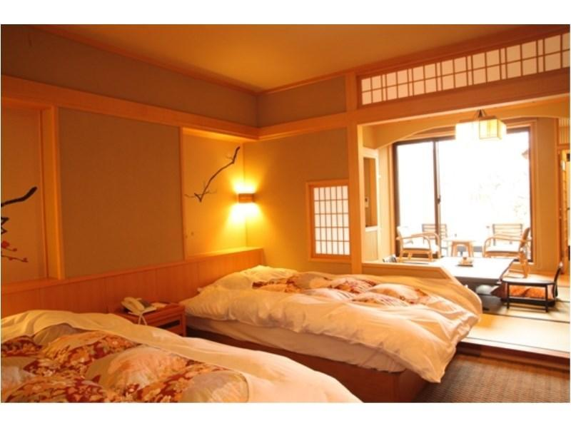 無障礙和洋式房+露天風呂 (Japanese/Western-style Room with Open-air Bath (Barrier Free Room))