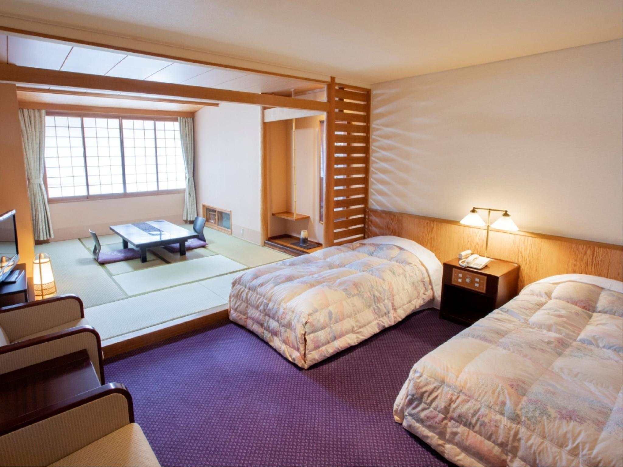 和洋室(禁煙) (Japanese/Western-style Room (2 Beds, Kobushi Wing))