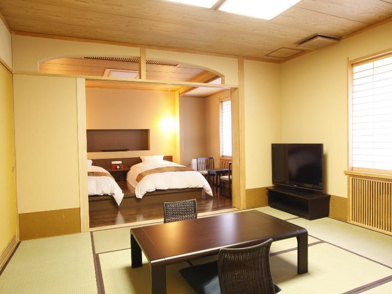 摩登和洋式房(2张床) (Modern Japanese/Western-style Room (Twin Beds))