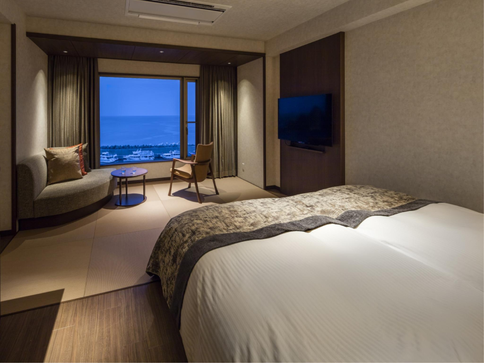 本馆 海景 双人双床房 (Sea View Twin Room (Main Building))