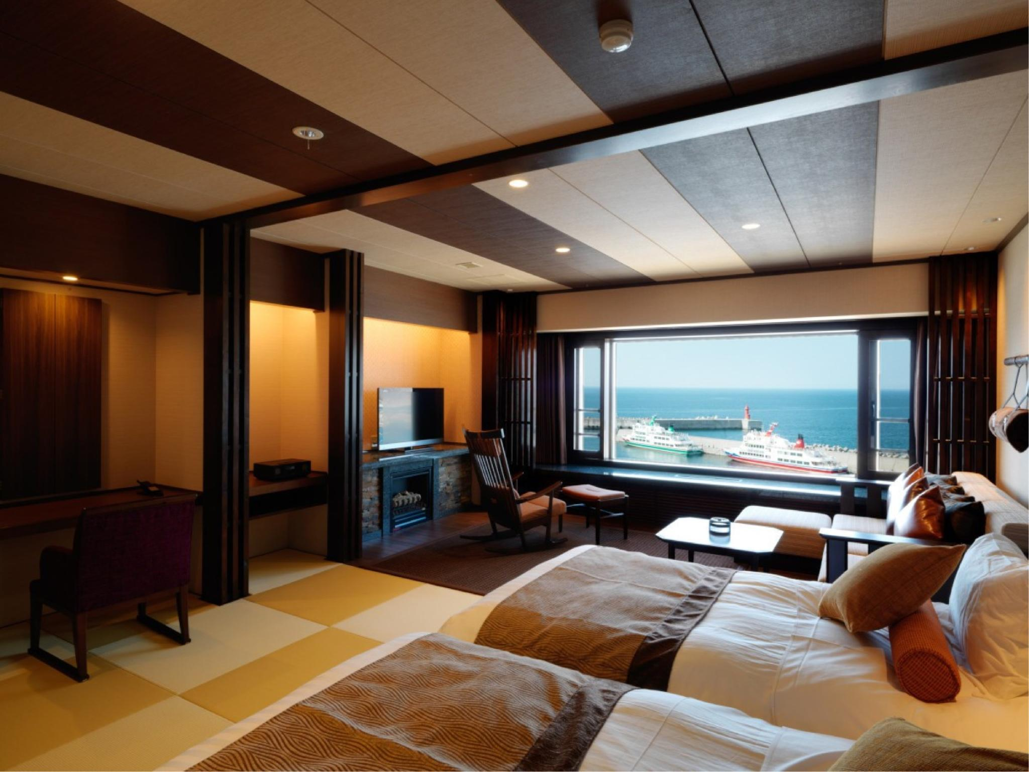 日式摩登双人双床房 (Modern Japanese-style Twin Room (Okhotsk Club Type))