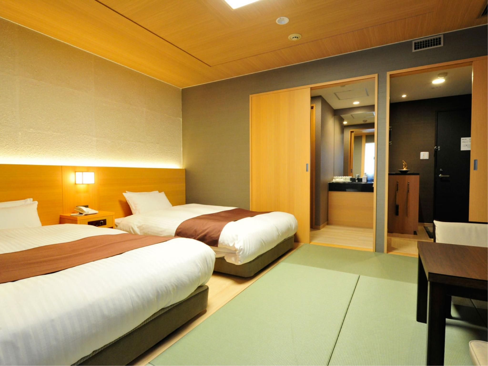 Japanese-style Twin Room with Low Bed *No bath in room
