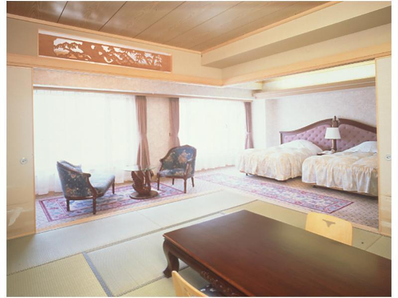 다다미 침대 객실(신관/다다미 객실+베드×2) (Japanese/Western-style Room (Japanese-style Room + 2 Beds, New Building))