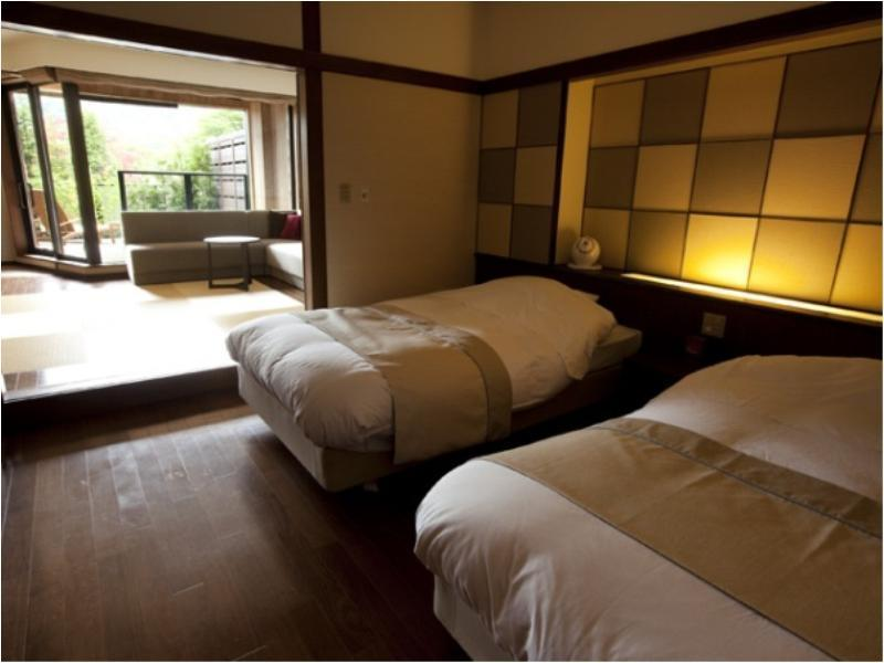 다다미 침대 객실(2베드/전망탕) (Japanese/Western-style Room with Scenic View Bath (2 Beds))