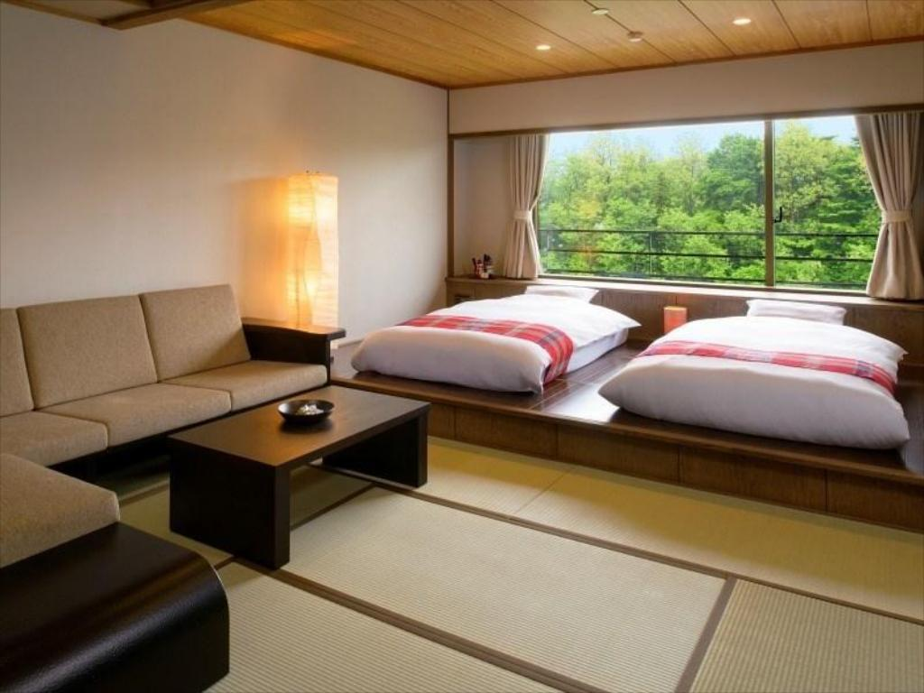 Japanese/Western-style Room (2 Beds) - Guestroom