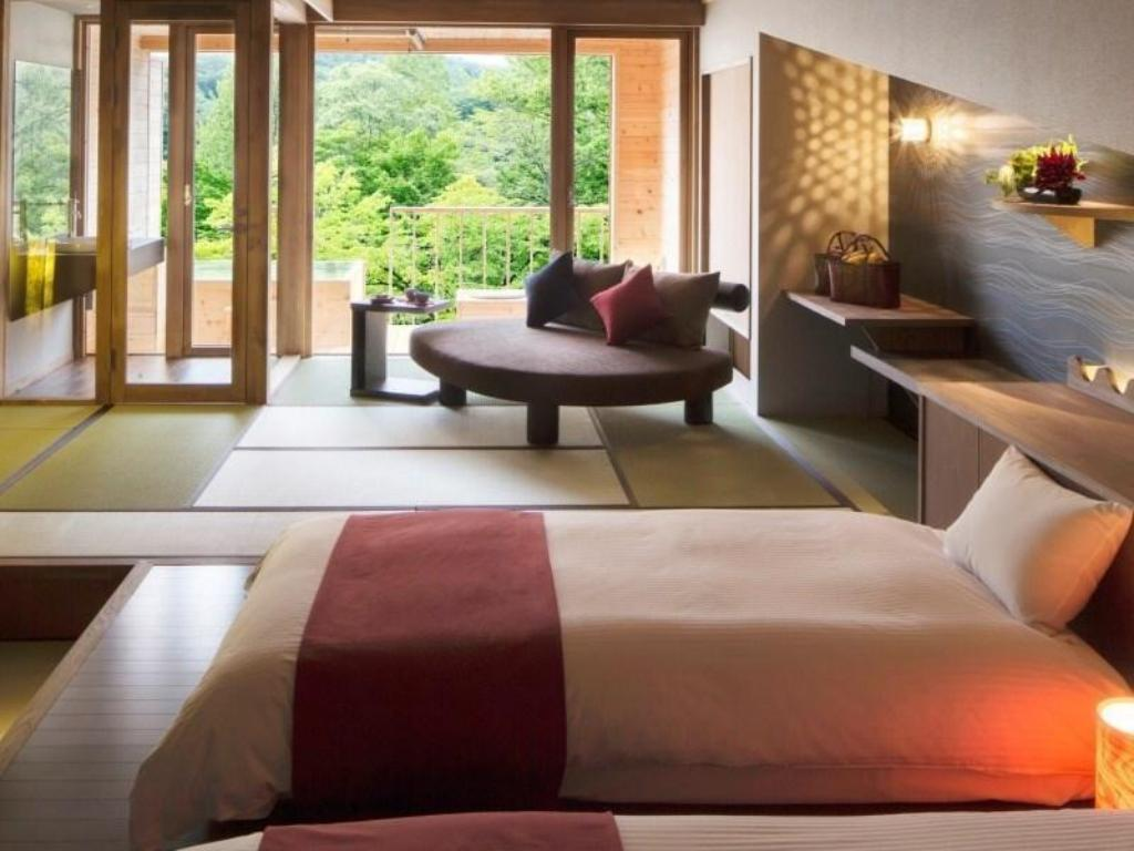 Mountain Stream Side Japanese-style Room with Open-air Bath & Terrace (Non-smoking) - ห้องพัก