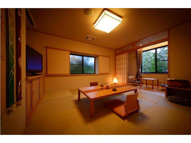 다다미 침대 객실 (Japanese/Western-style Room with Cypress Bath (2 Beds, New Building))
