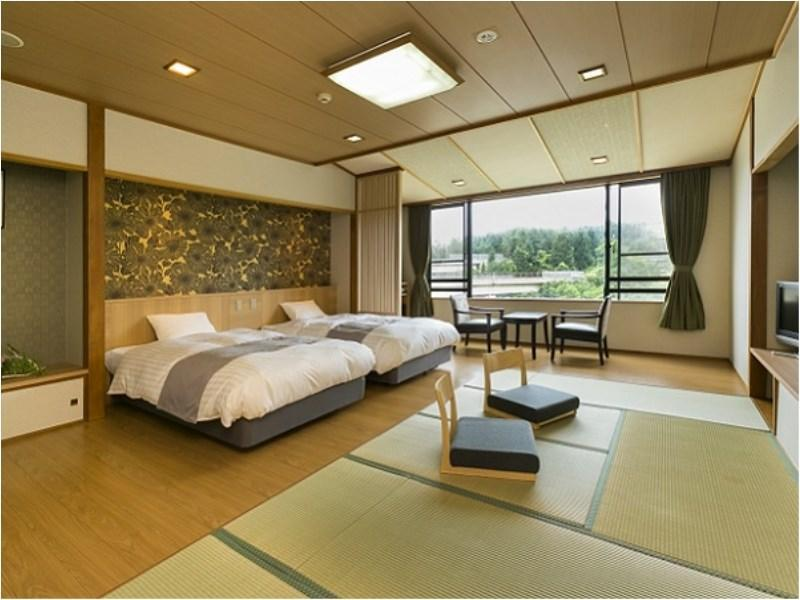 Japanese/Western-style Room (2 Beds, Rindo Wing)
